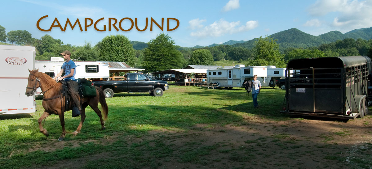 Campground with trailers